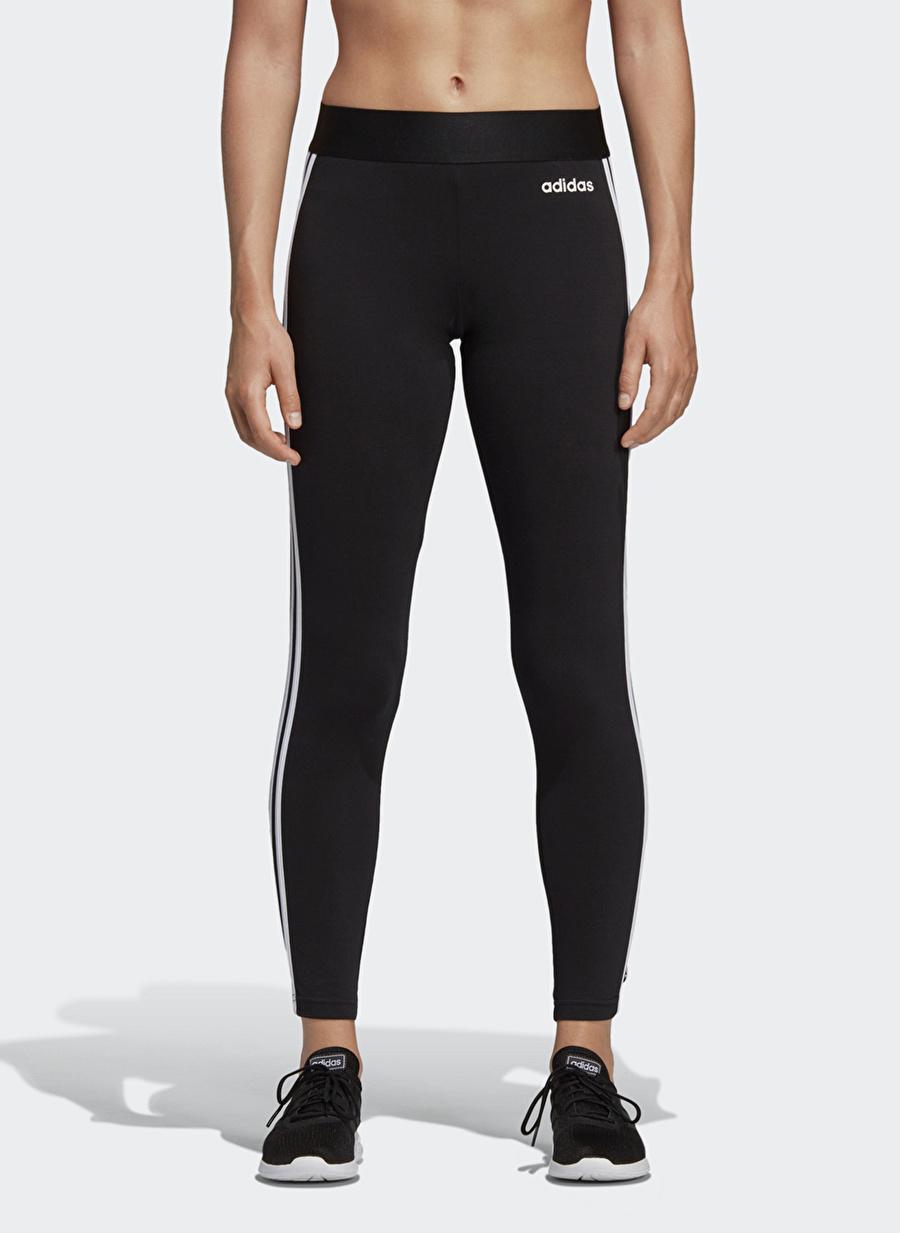 M Kadın Siyah - Beyaz adidas Essentials 3-Stripes Tayt Bottoms Active Streetwear