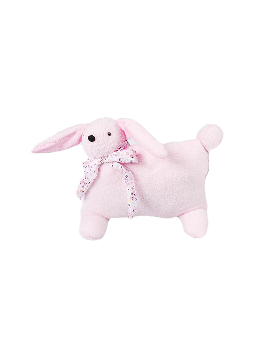 Standart unisex Pembe Cıgıt Peluşlu Tavşan Kırlent Ev Tekstili Dekoratif Yastık