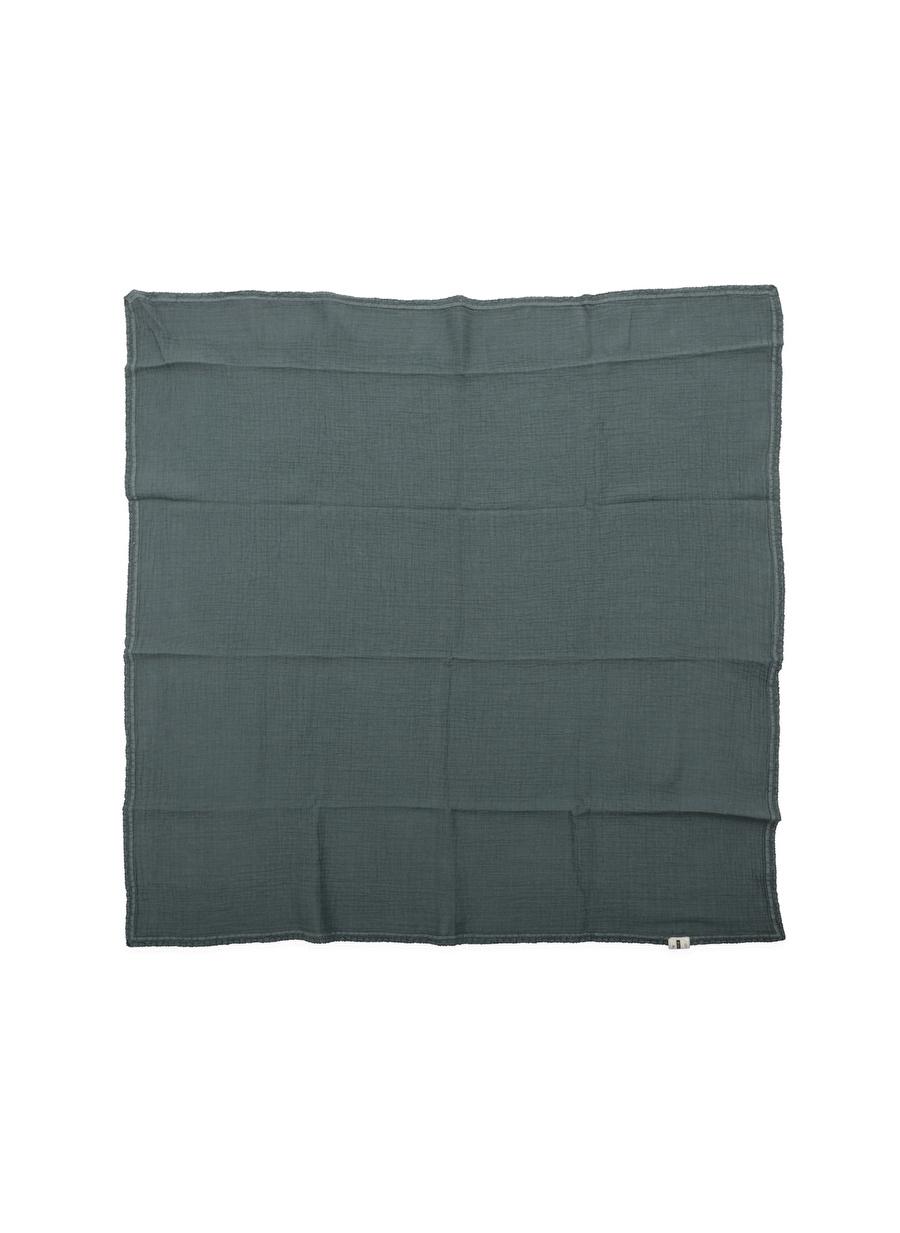 Standart unisex Füme Cıgıt Dantel İşlemeli Tekkat Müslin Battaniye Ev Tekstili
