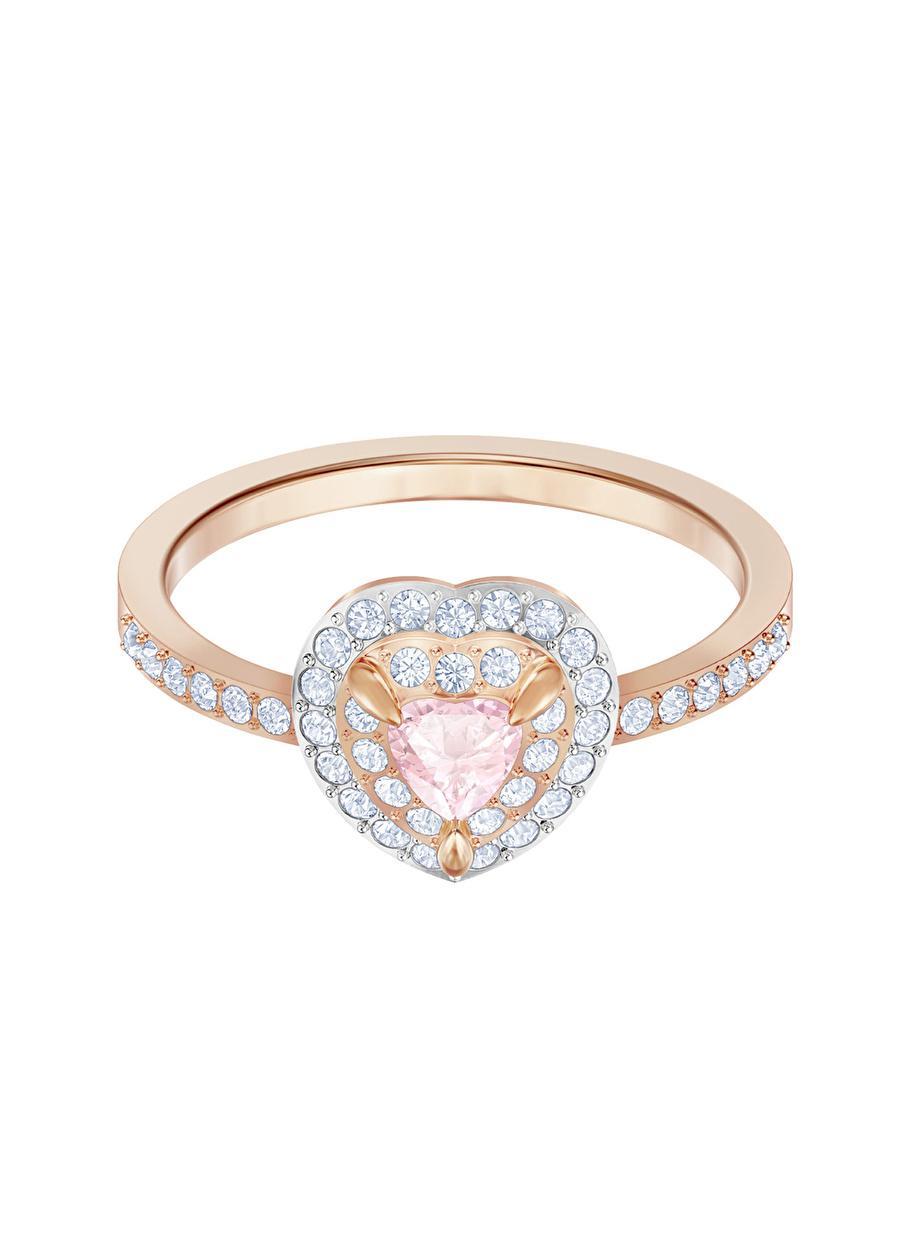 Standart Kadın Renksiz Swarovski 5439315 One Rose Altın Kaplama Yüzük Jewelry Accessories (Jwg)