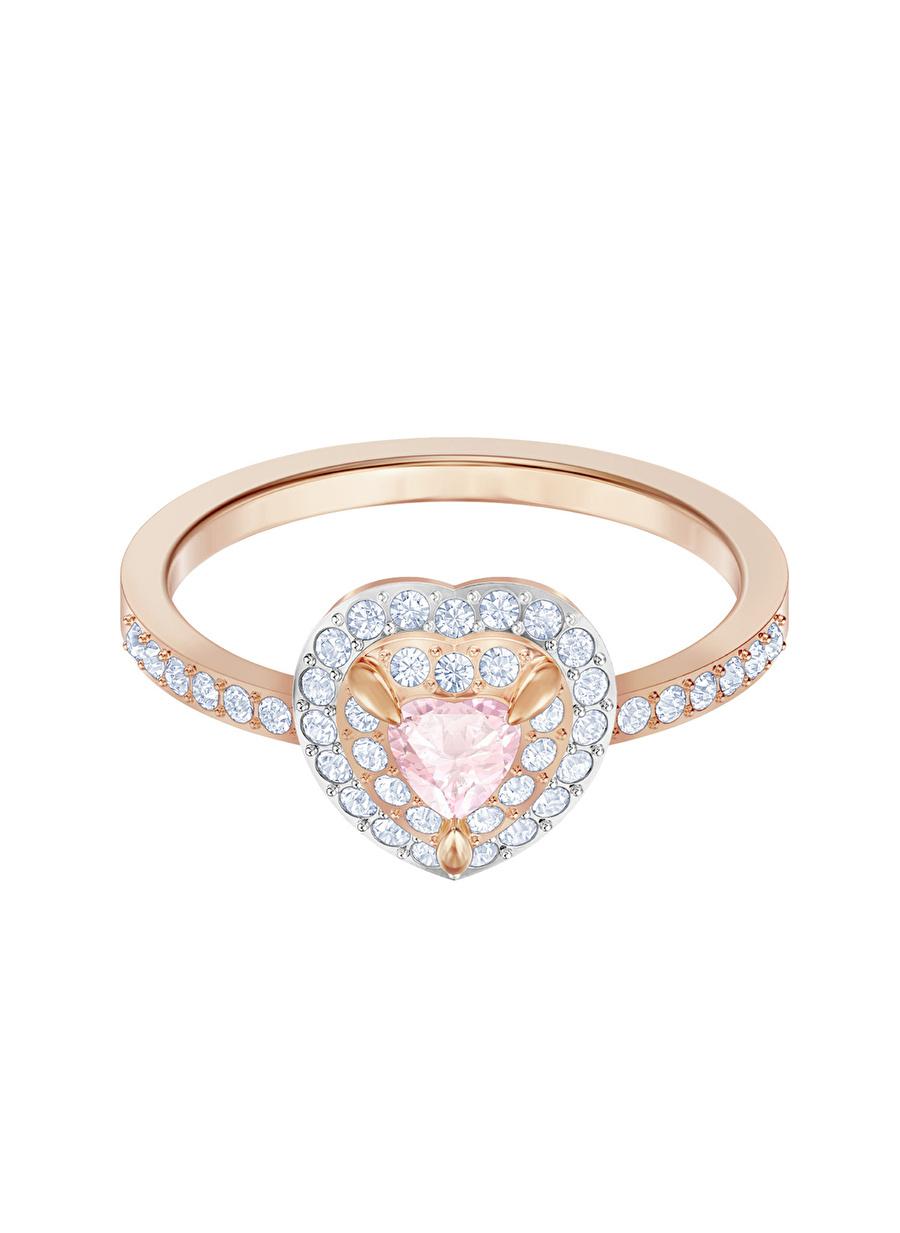Standart Kadın Renksiz Swarovski 5470690 One Rose Altın Kaplama Yüzük Jewelry Accessories (Jwg)