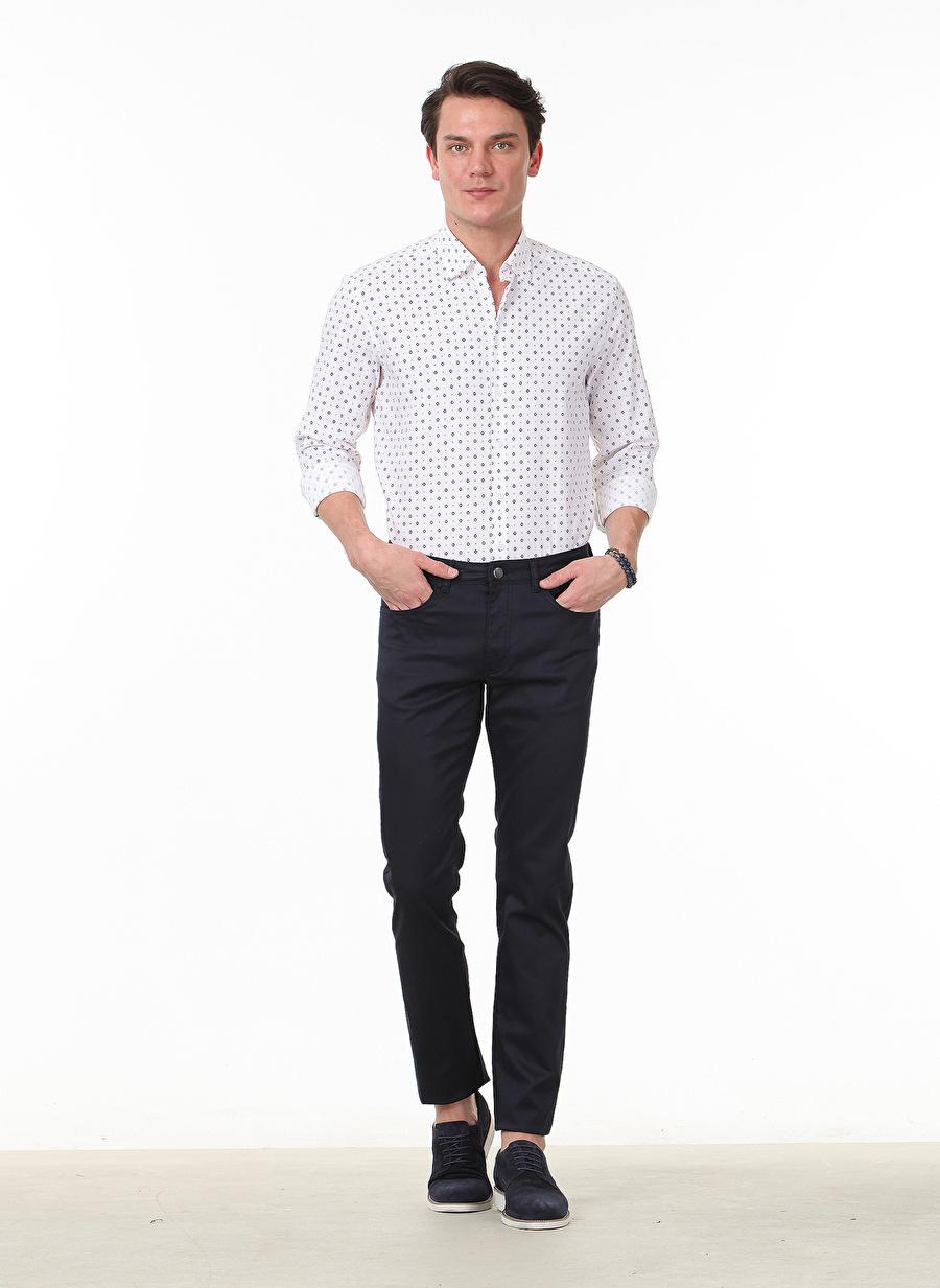 36 Erkek Lacivert Kip Pantolon Bottoms Mens