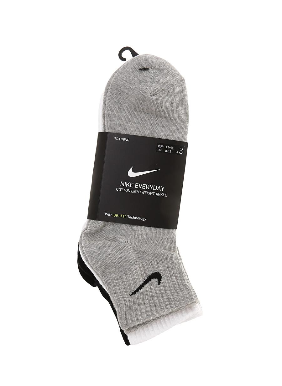L Erkek Çok Renkli Nike Everyday Lightweight Antrenman Bilek (3 Çift) Spor Çorap Equipment Accessor Active Streetwear