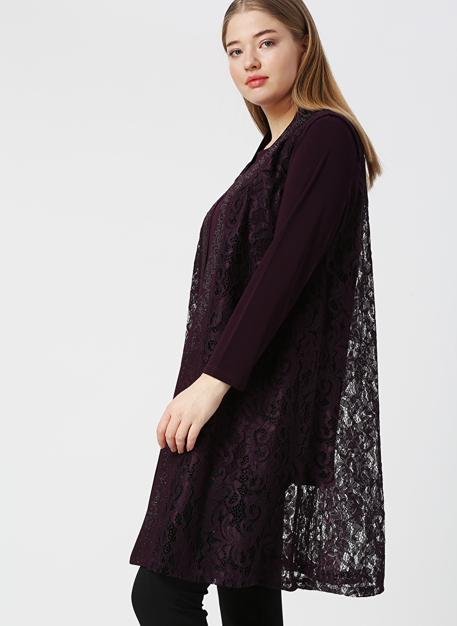 XL Mürdüm Papilla İkili Takım Kadın İç Giyim Takımı