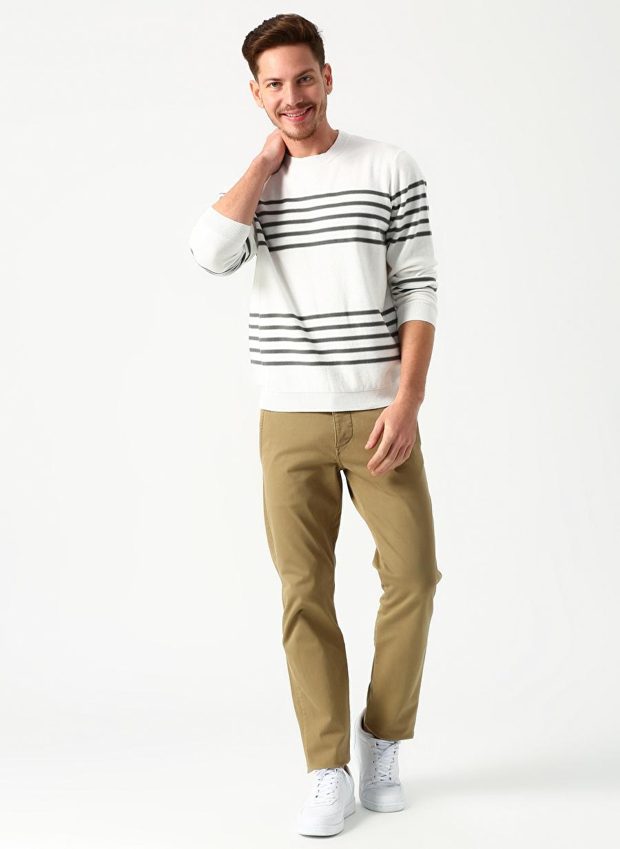 34-30 Erkek Koyu Haki Dockers Smart Supreme Flex Alpha Tapered Klasik Pantolon Bottoms Mens