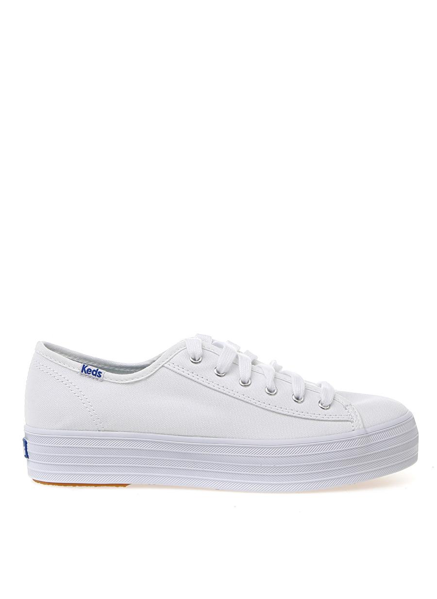 37 Beyaz Keds Sneaker Ayakkabı Çanta Kadın Düz