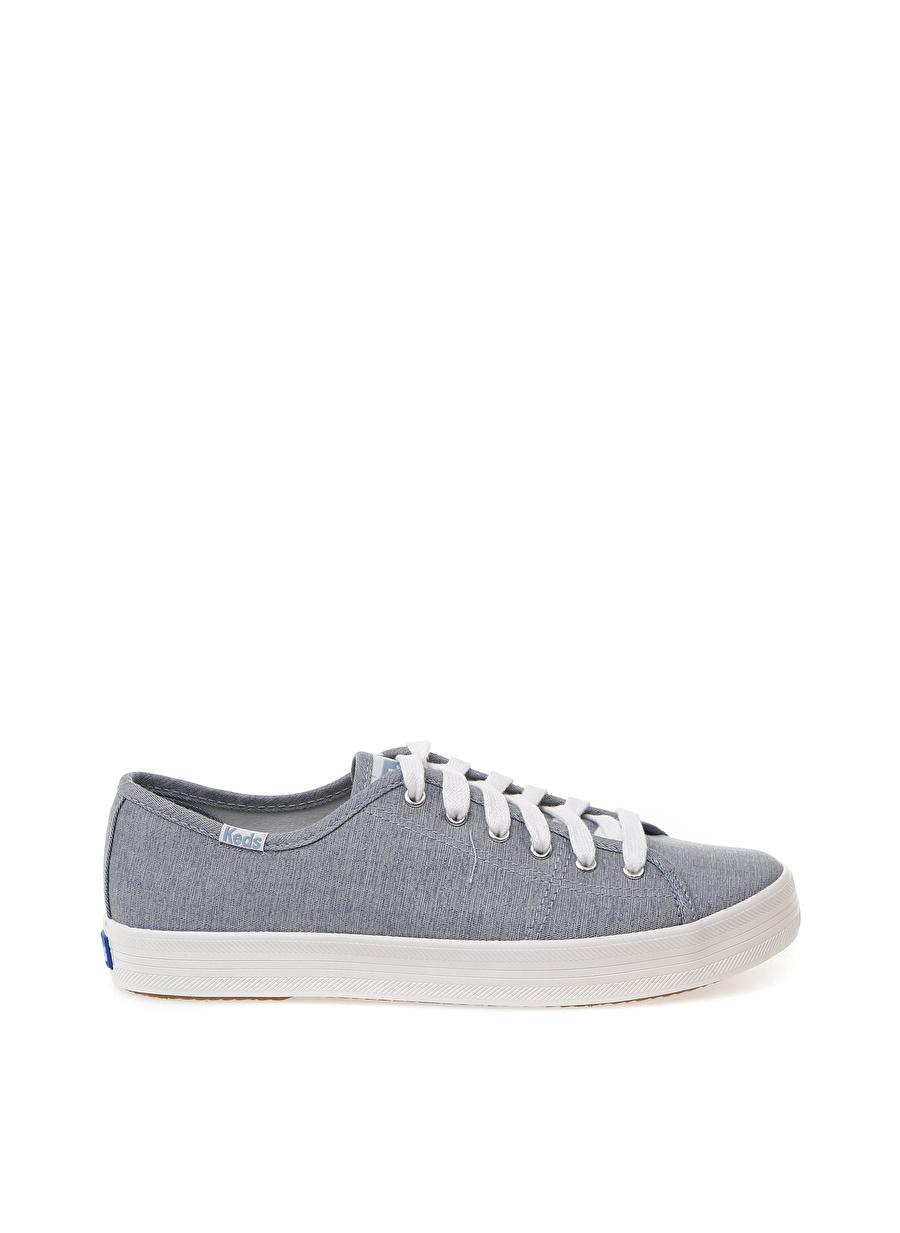 36 Mavi Keds Sneaker Ayakkabı Çanta Kadın Düz