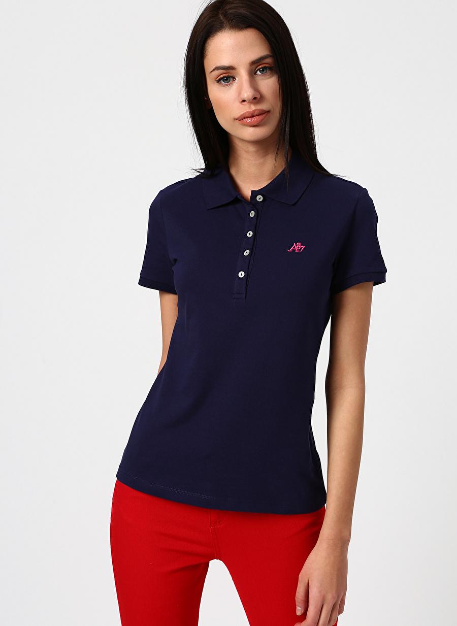 L Lacivert Aeropostale T-Shirt Kadın Giyim T-shirt Atlet