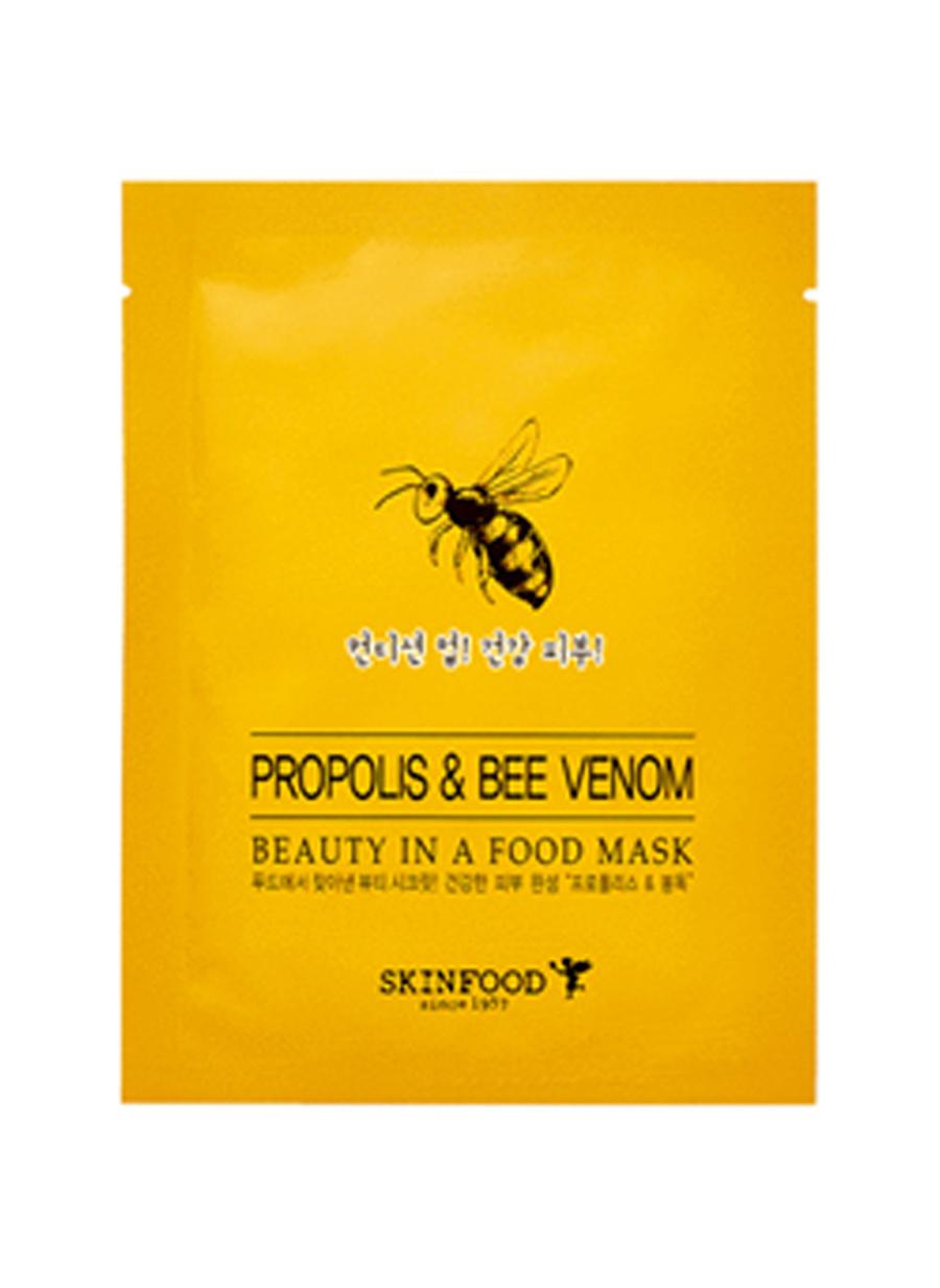 Standart unisex Renksiz Skinfood Beauty Food Tek Kullanımlık Propolis & Bee VeNom Bakım Maskesi Kozmetik Cilt Bakımı Yüz Peeling