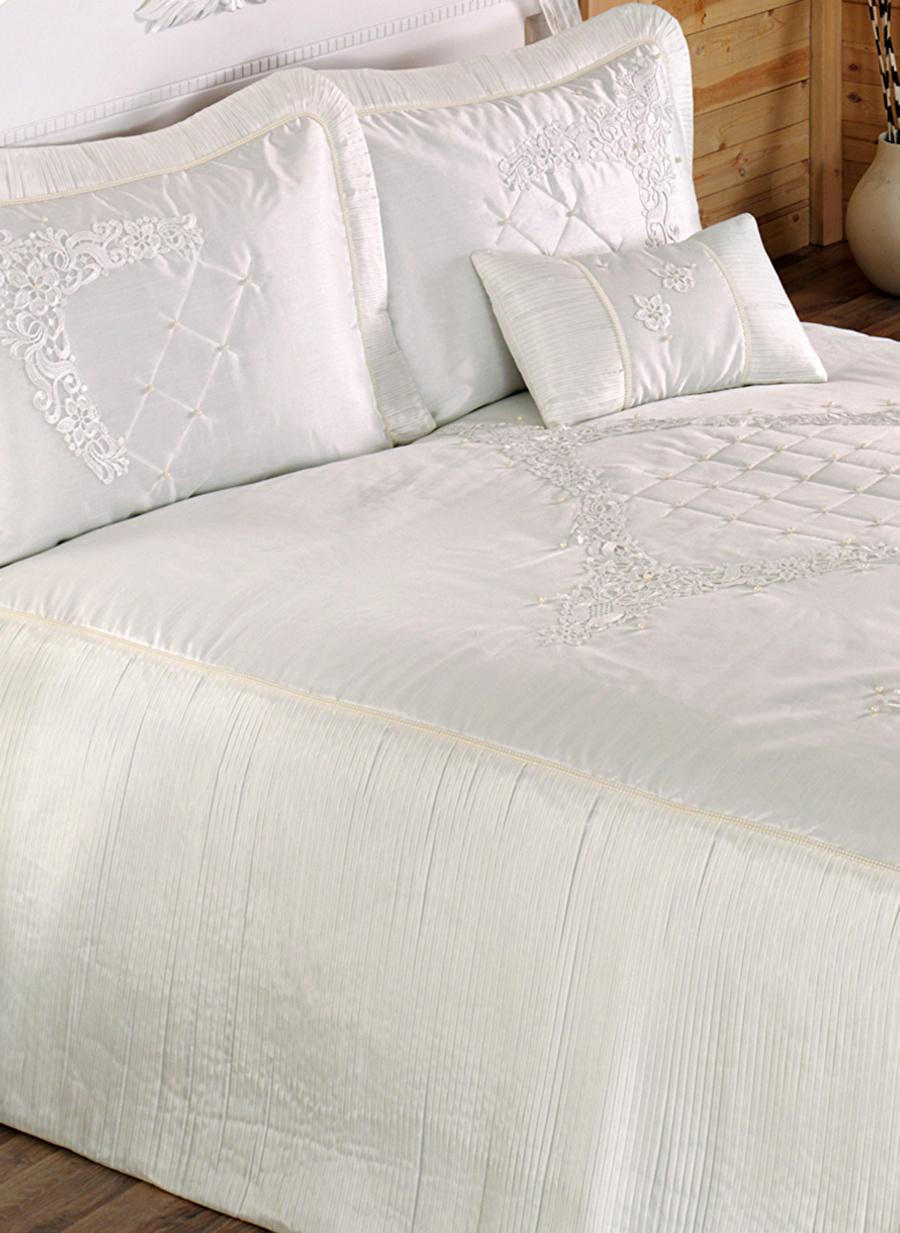 Standart unisex Beyaz İrya Almina Yatak Örtüsü Ev Tekstili