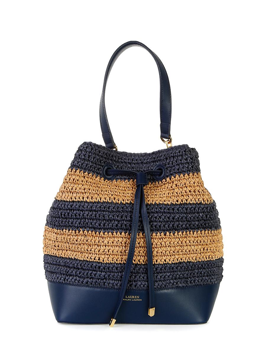 Standart Lacivert Lauren Ralph Debby Drawstring Torba Çanta Ayakkabı Kadın Omuz El Çantası