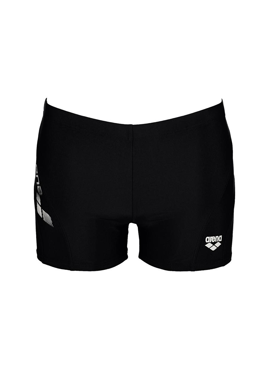 M Siyah - Beyaz Arena Şort Mayo Erkek Plaj Giyim