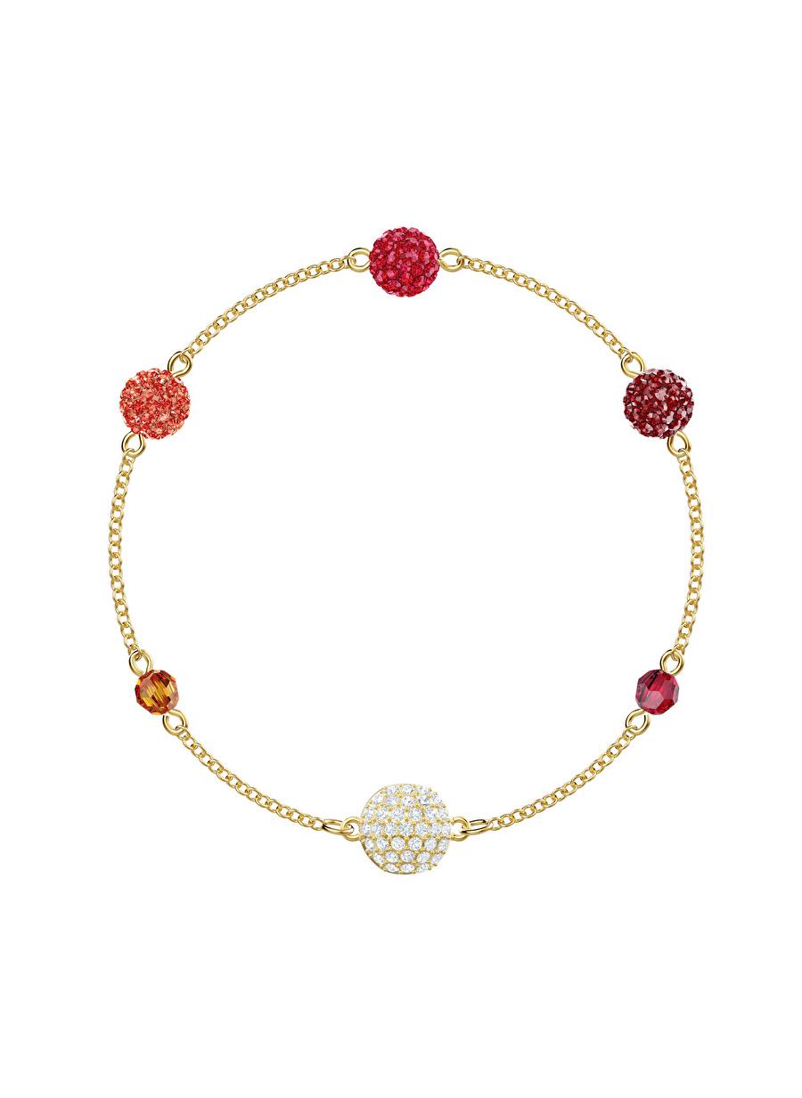 Standart Kadın Renksiz Swarovski 5451315 Remix Kırmızı Pop Altın Kaplama Bileklik Jewelry Accessories (Jwg)