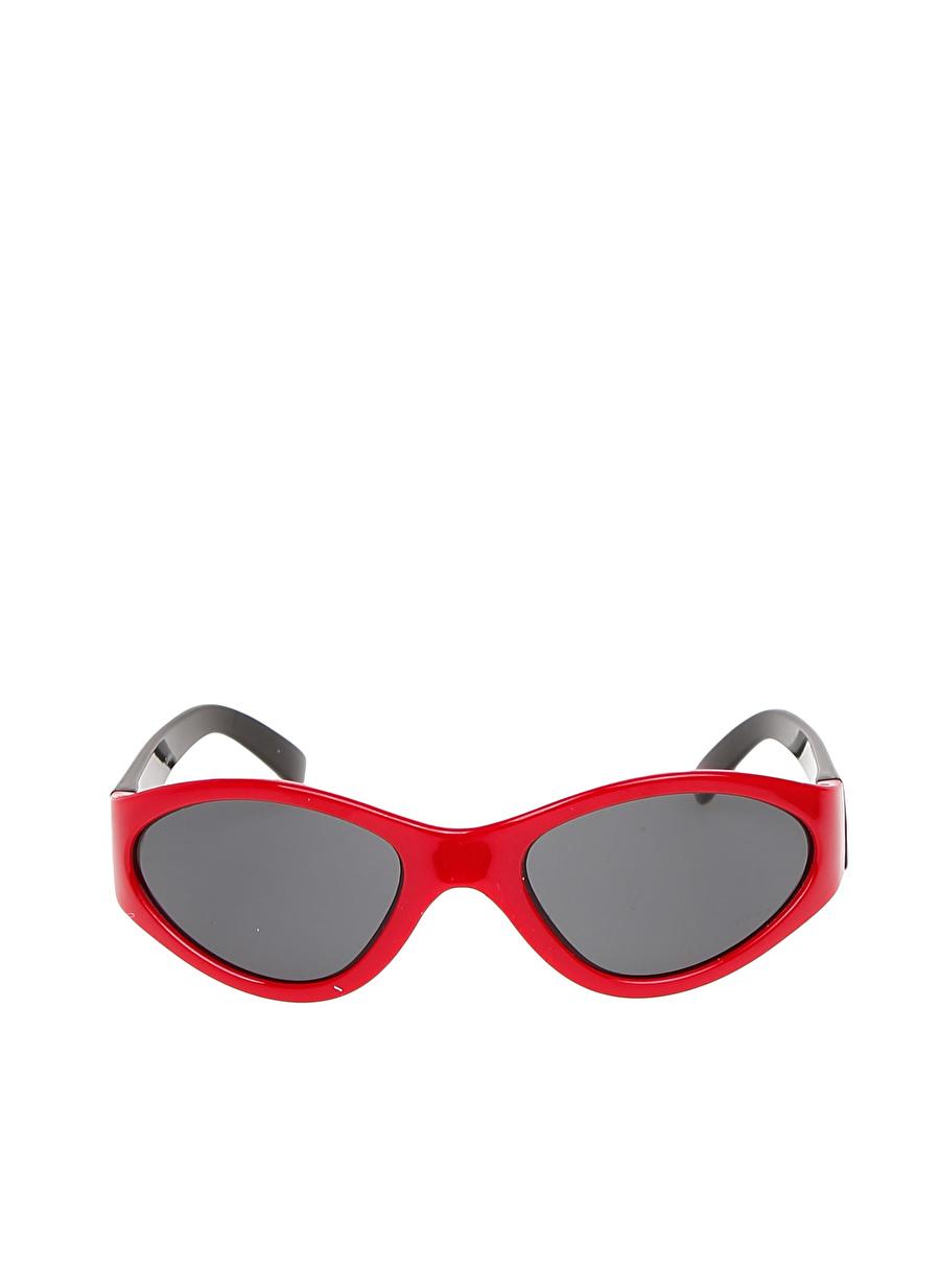 Standart Erkek Renksiz T-Box Kırmızı Güneş Gözlüğü Çocuk Aksesuar Gözlük