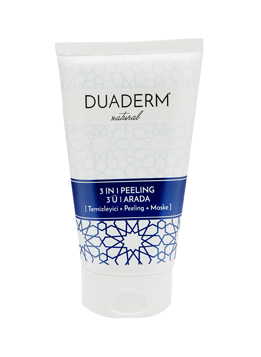 Standart unisex Renksiz Duaderm Natural 3\'ü 1 Arada Peeling Maske Süt Temizleyici Kozmetik Cilt Bakımı Tonik