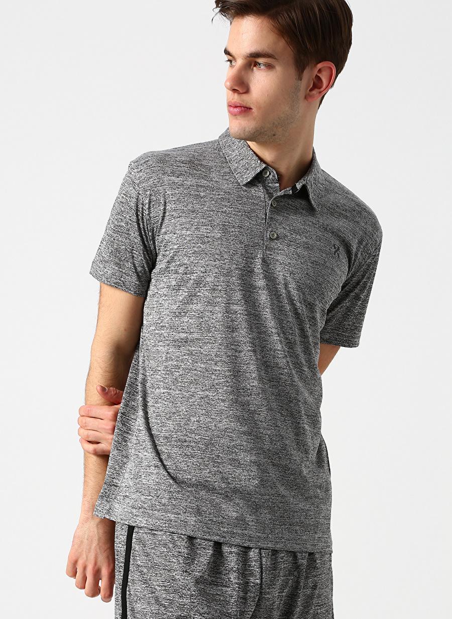 S Antrasit Melanj Exuma Polo T-Shirt Spor Erkek Giyim T-shirt