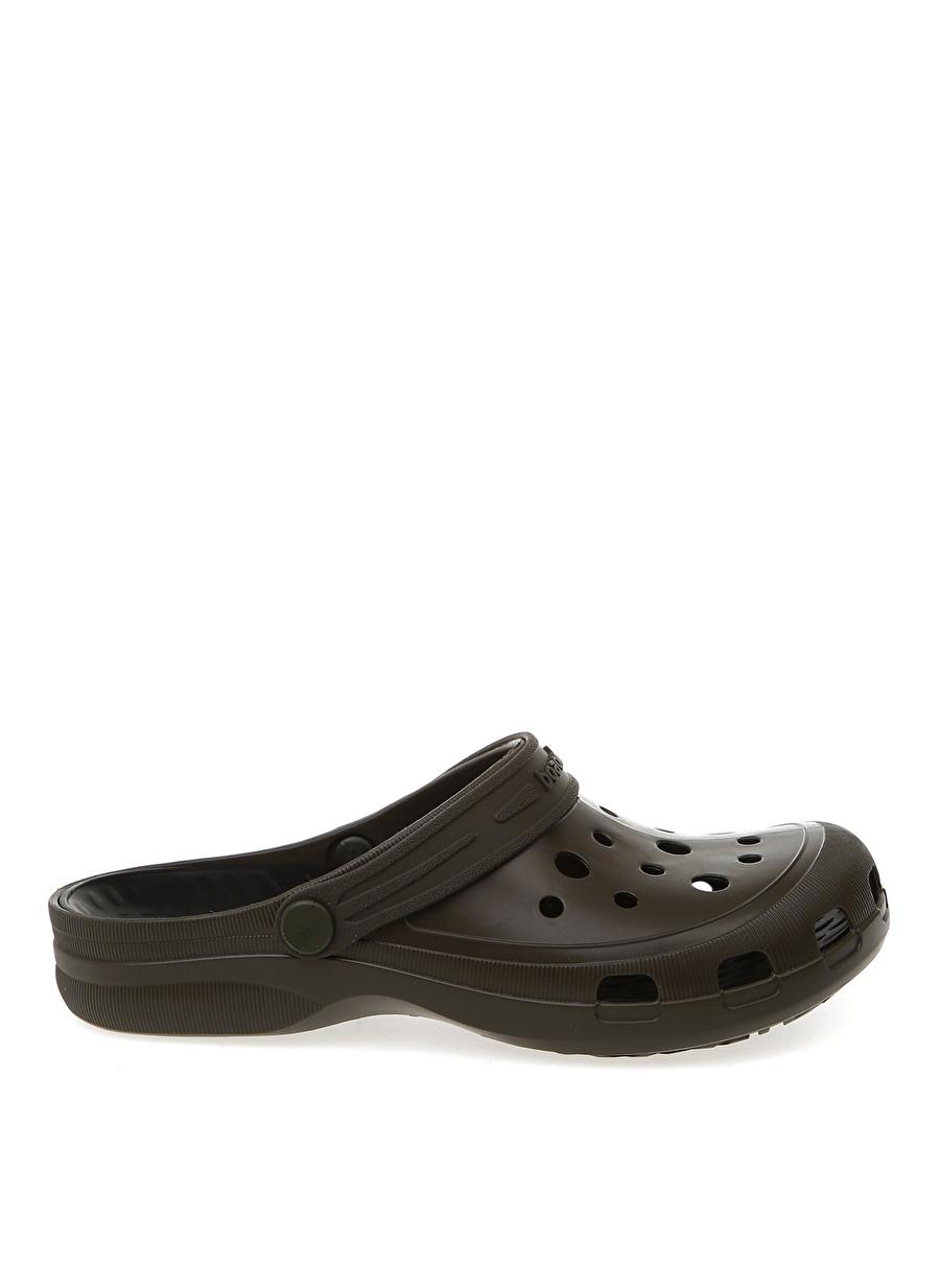 45-46 Haki Boaonda Kahverengi Terlik Ayakkabı Çanta Erkek Sandalet
