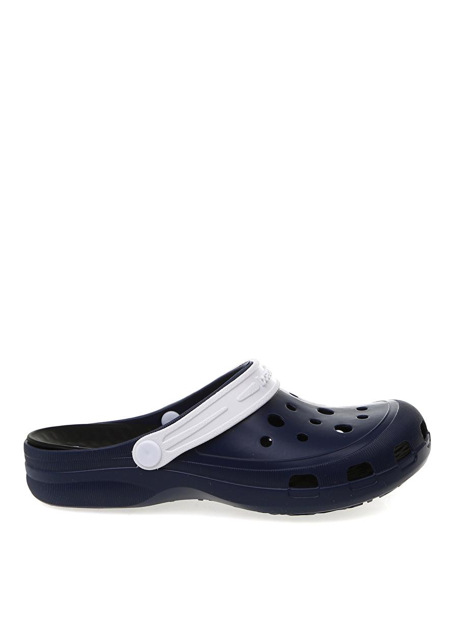41-42 Lacivert Beyaz Boaonda Terlik Ayakkabı Çanta Erkek Sandalet