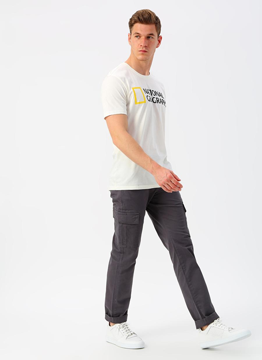 Erkek Antrasit National Geographic Kargo Pantolon Bottoms Active Streetwear