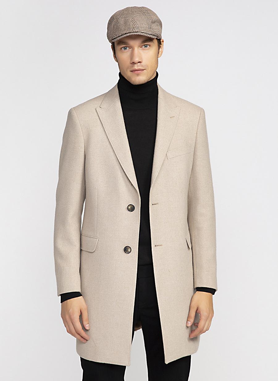 52 Bej Fabrika Palto Erkek Dış Giyim Trençkot Pardösü
