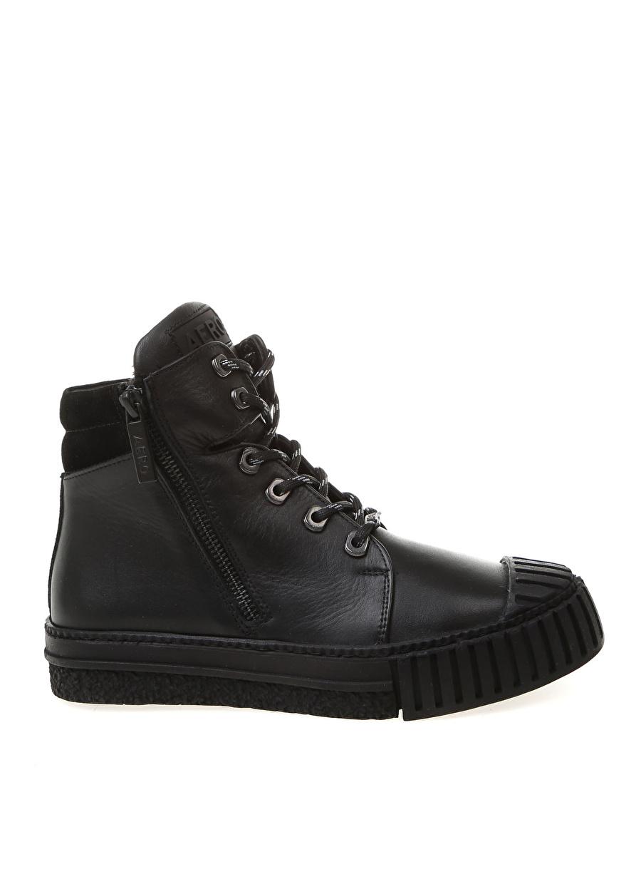 38 Siyah Aeropostale Deri Bot Ayakkabı Çanta Kadın Çizme