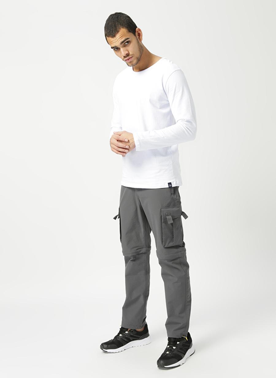 S Erkek Gri National Geographic Kargo Pantolon Bottoms Active Streetwear