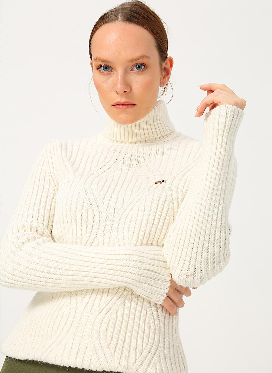 S Kadın Krem U.S. Polo Assn. Kazak Knitwear Ladies