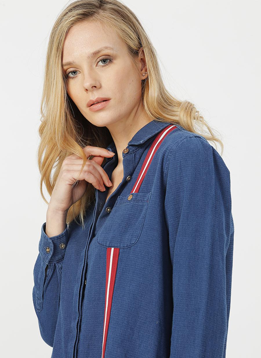 36 Kadın Mavi U.S. Polo Assn. Elbise Dress Ladies