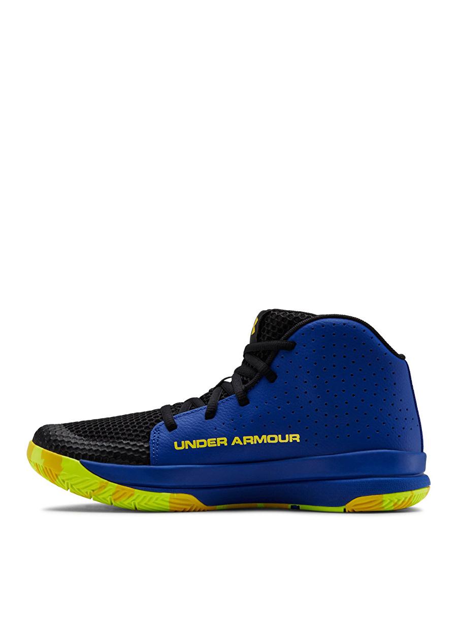 38 Erkek Mavi Under Armour GS Jet Basketbol Ayakkabısı Çanta Çocuk Ayakkabıları