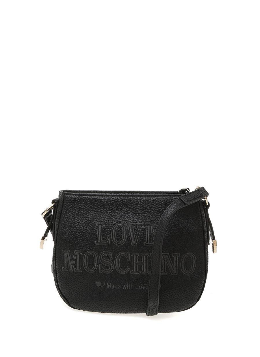 Standart Siyah Love Moschino El Çantası Ayakkabı Kadın Omuz