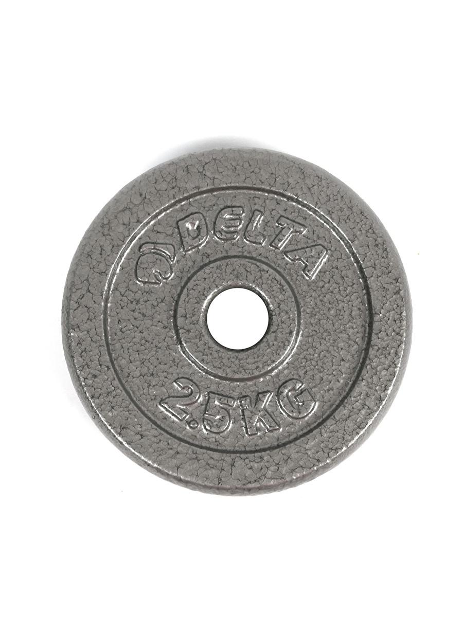 Standart Erkek Gri Deltaspor Deluxe Dura-Strong Parlak Döküm Plaka Çiftli Spor Türleri Fitness Kondisyon Ekipmanları