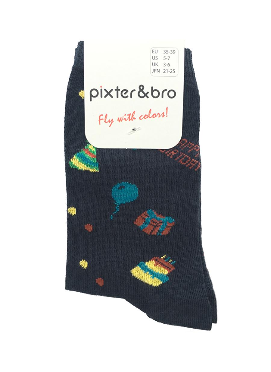 35-38 Kırmızı Pixteramp;Bro Pixter&Bro Soket Çorap Kadın İç Giyim