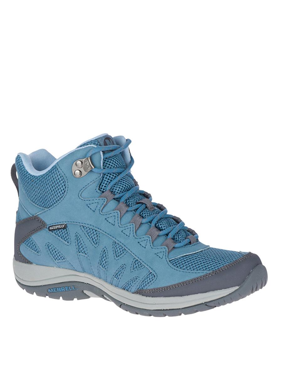 39 Mavi Merrell Simien Mid Waterproof Bot Ayakkabı Çanta Kadın Çizme