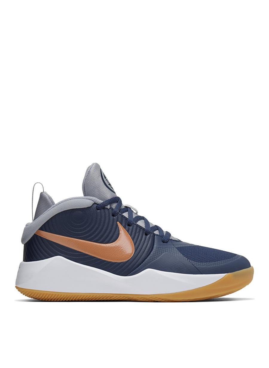35.5 Erkek Mavi Nike Team Hustle D9 Basketbol Ayakkabısı Çanta Çocuk Ayakkabıları