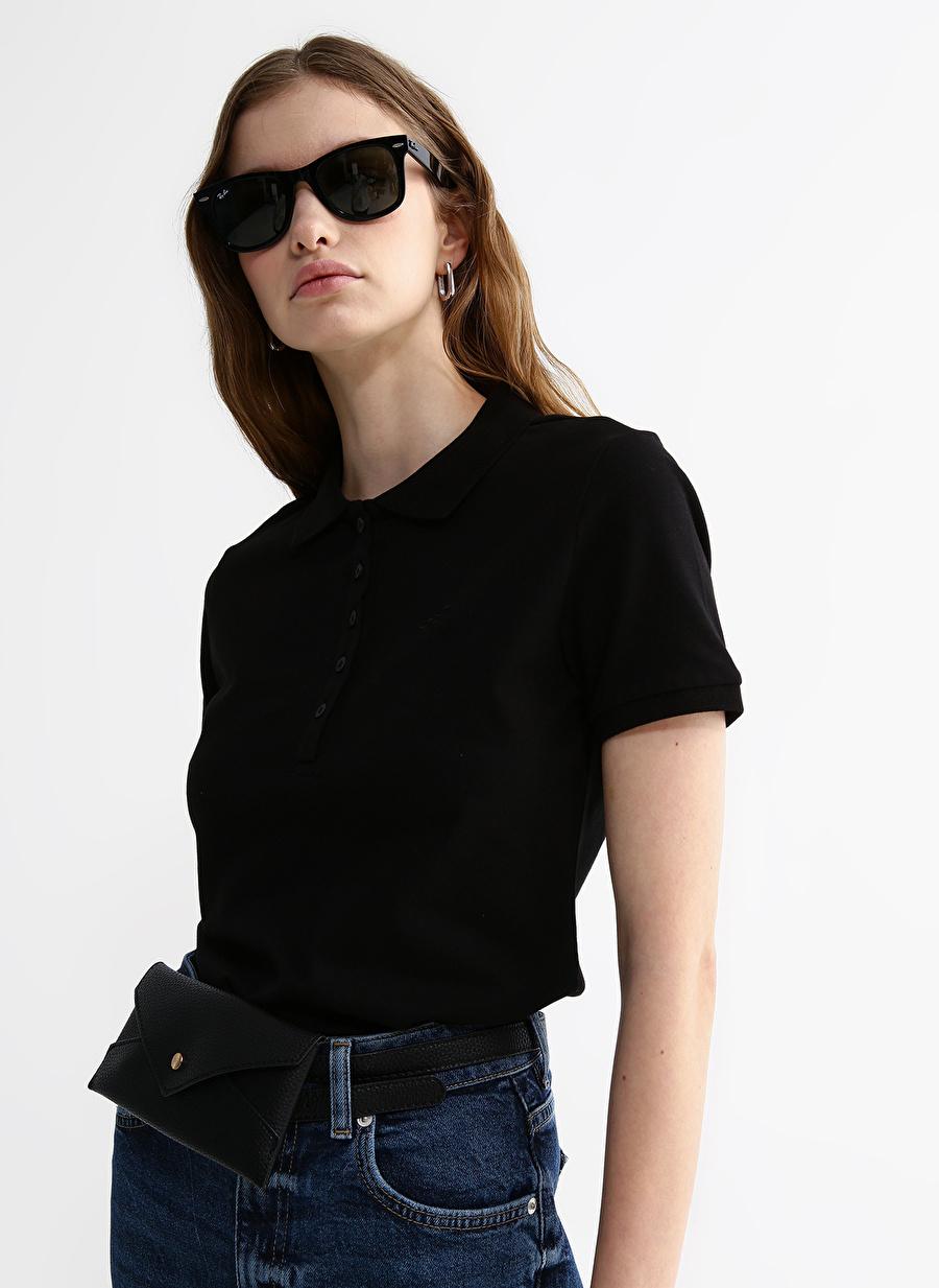 M Siyah Aeropostale T-Shirt Kadın Giyim T-shirt Atlet