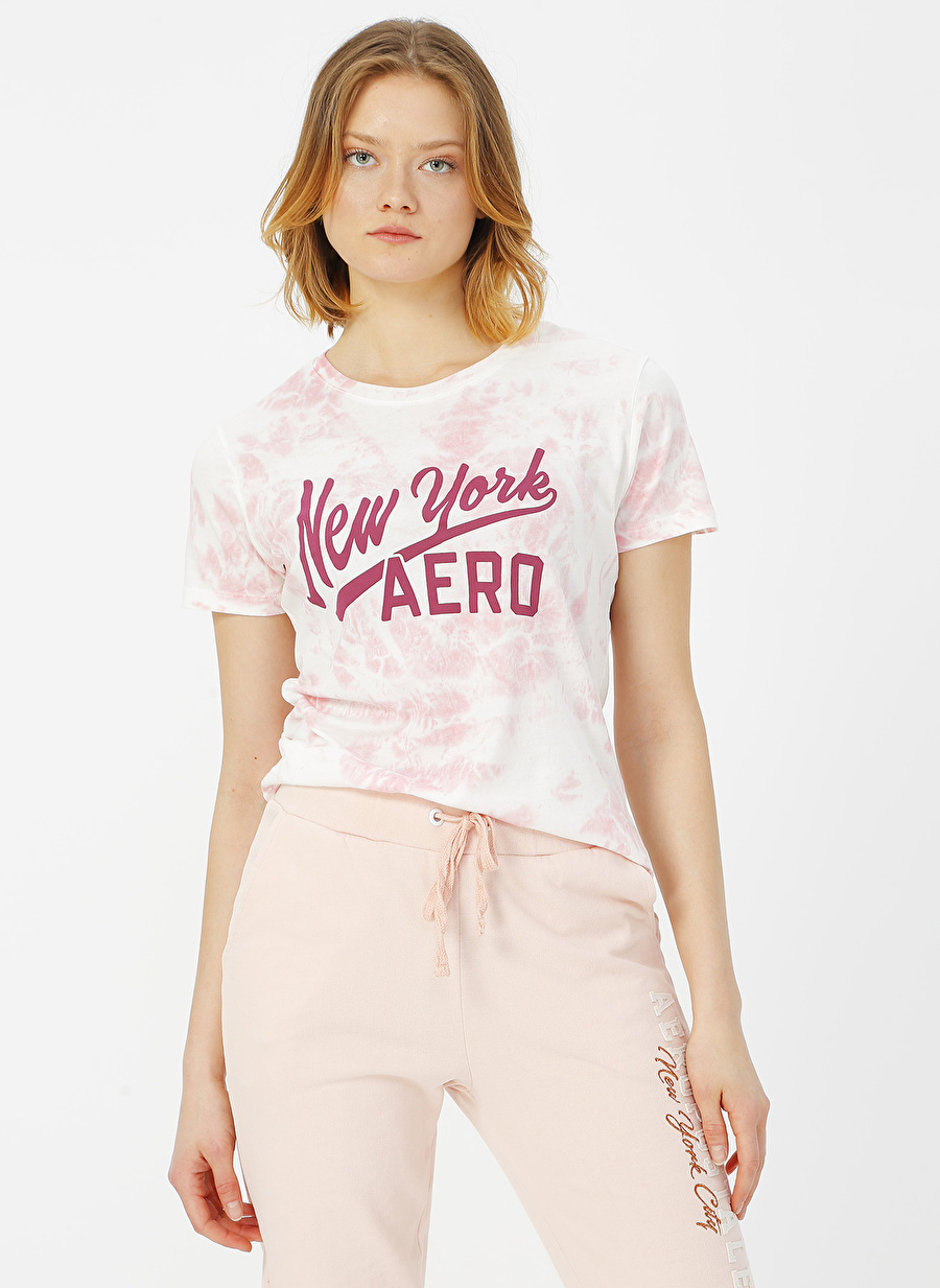S Pembe Aeropostale T-Shirt Kadın Giyim T-shirt Atlet