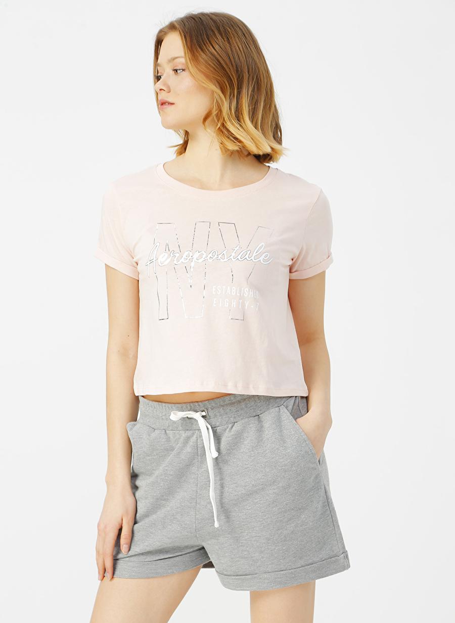 XS Açık Pembe Aeropostale T-Shirt Kadın Giyim T-shirt Atlet