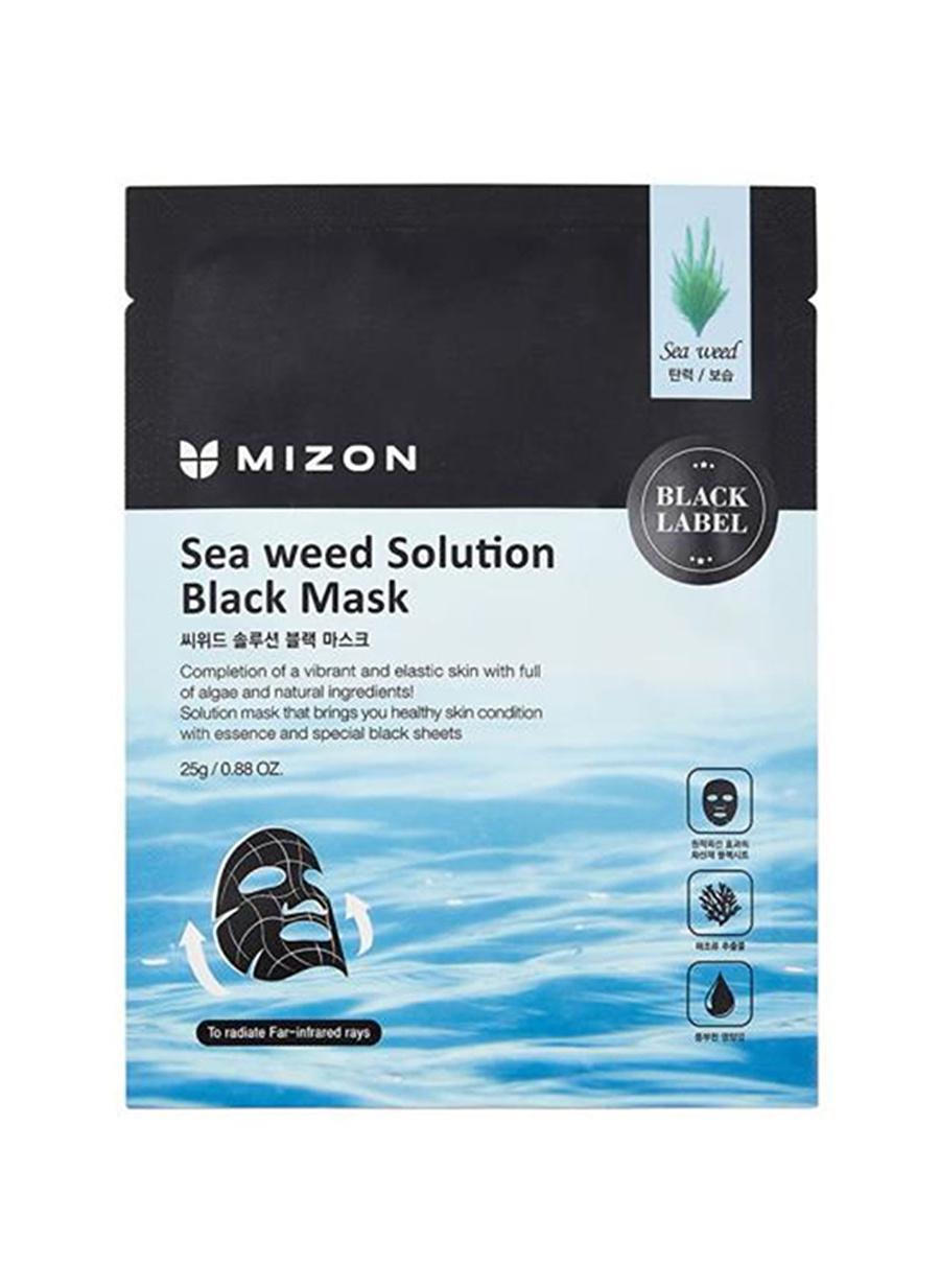 Standart unisex Renksiz Mizon Sea Weed Solution Black Mask - Deniz Yosunu Özlü Sıkılaştırıcı Maske Kozmetik Cilt Bakımı Yüz Maskesi Peeling