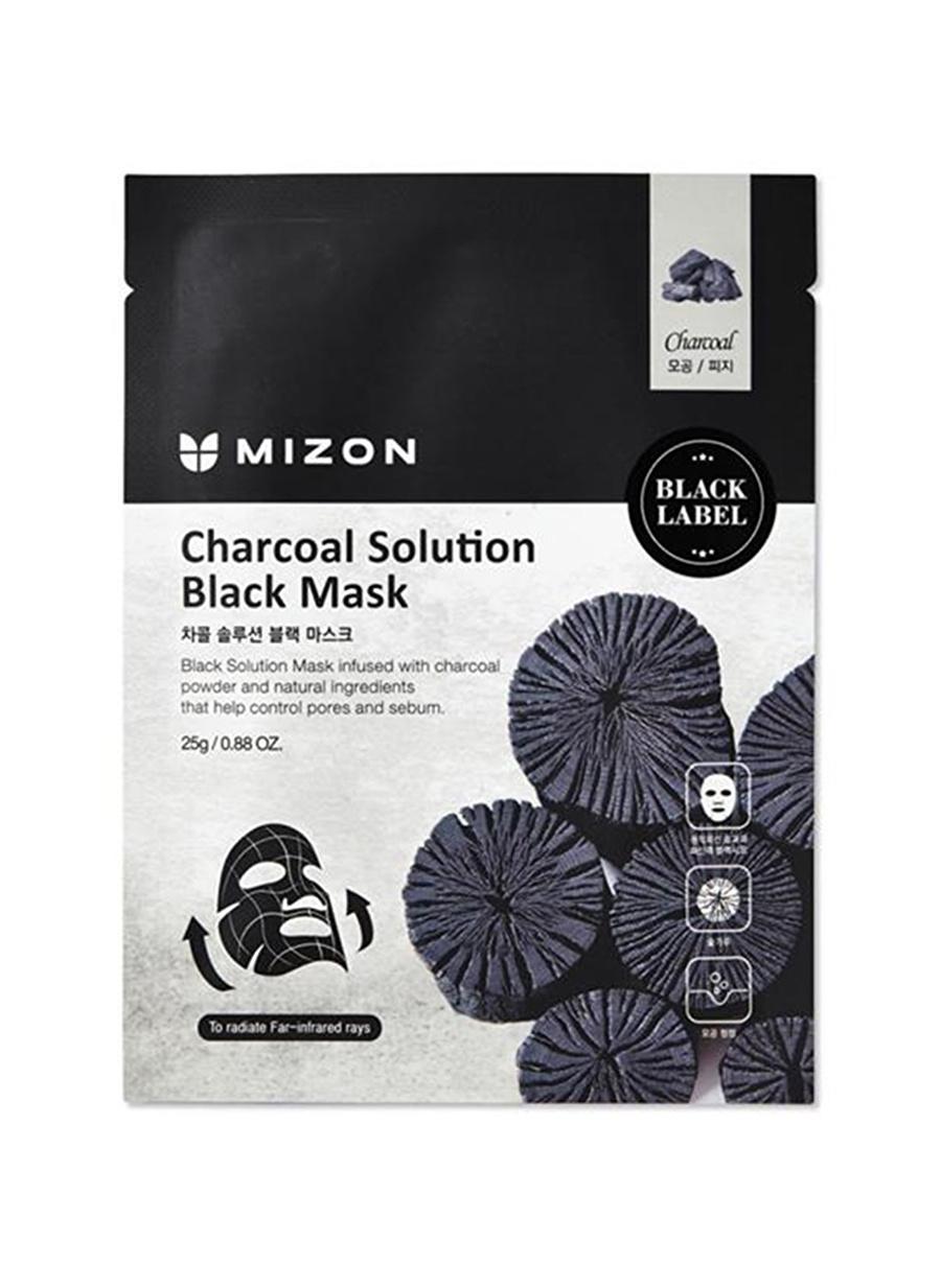 Standart unisex Renksiz Mizon Charcoal Solution Black Mask - Kömürlü Gözenek Arındırıcı Maske Kozmetik Cilt Bakımı Yüz Maskesi Peeling