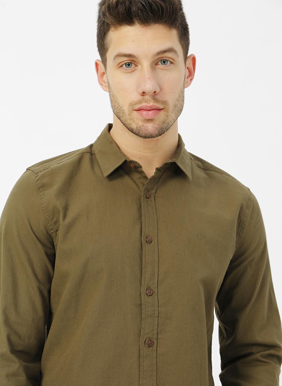 2XL Haki Loft Gömlek Erkek Giyim