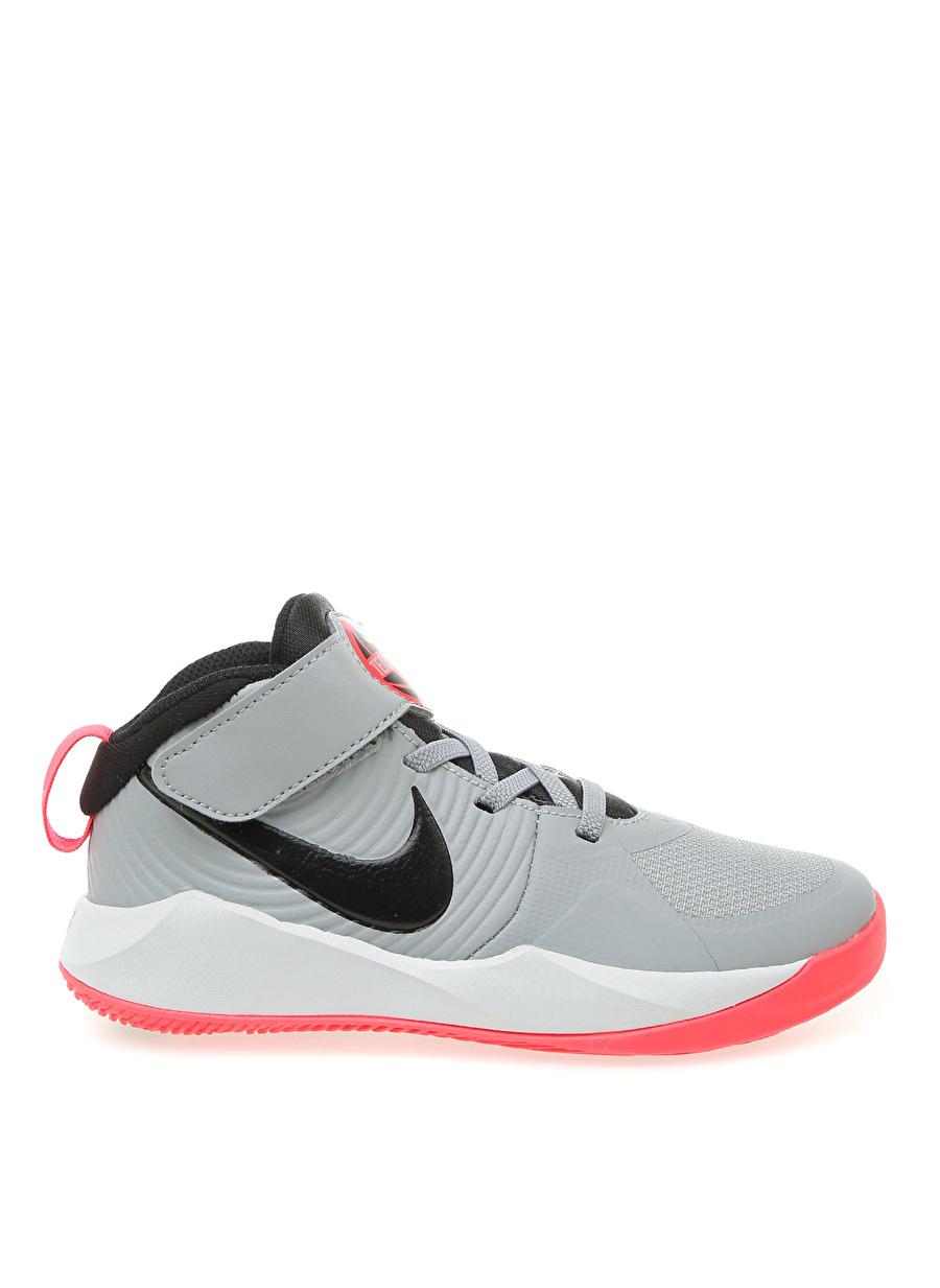 28 Erkek Gri Nike Team Hustle D9 Çocuk Basketbol Ayakkabısı Çanta Ayakkabıları