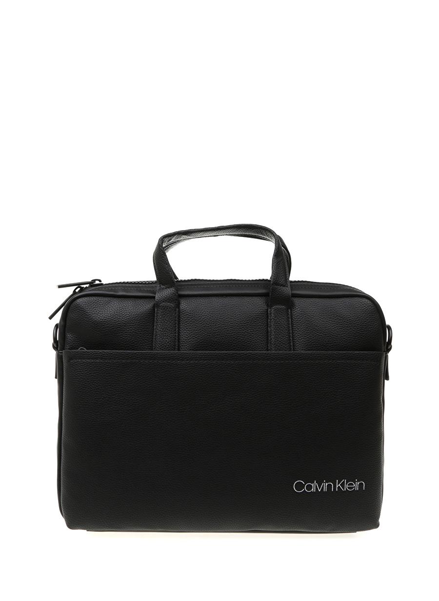 Standart Erkek Siyah Calvin Klein Laptop Çantası Ayakkabı Kadın Evrak