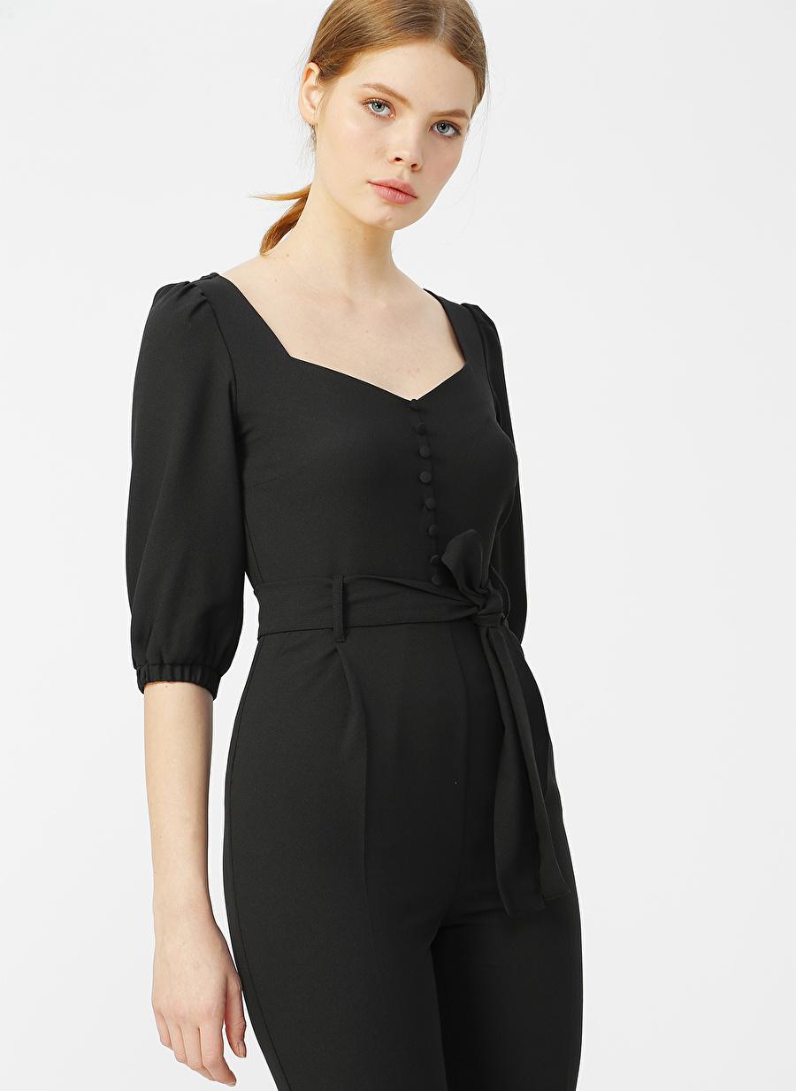 36 Siyah Random Tulum Kadın Giyim