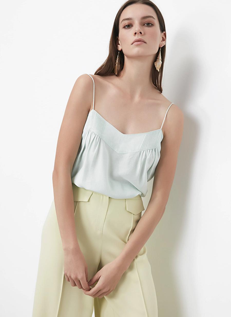 İpekyol Yeşil İp Askılı Bluz