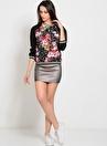 Girls On Film Çok Renkli Çiçek Desenli Kadın Bluz