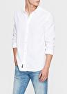 Mavi Cepsiz Beyaz Gömlek