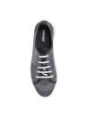 Greyder Kadın Deri Mavi-Gümüş  Düz Ayakkabı