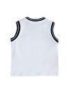 Mammaramma SAL029 Beyaz Baskılı Erkek Bebek İç Giyim Atlet