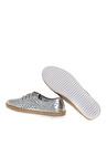 Penford Kadın Deri Gümüş Düz Ayakkabı