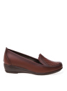 Cotton Bar Taba Deri + Suni Deri Düz Ayakkabı